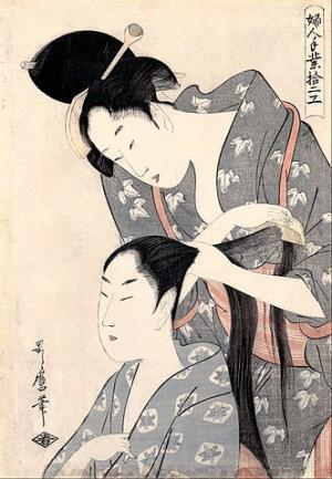 Kitagawa Utamaro - Hairdresser (Kamiyui)