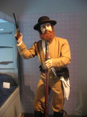 A mannequin at the MoMA dramatizing Civil War battles fought in Saltville, VA. (Flickr - sisterbeer)