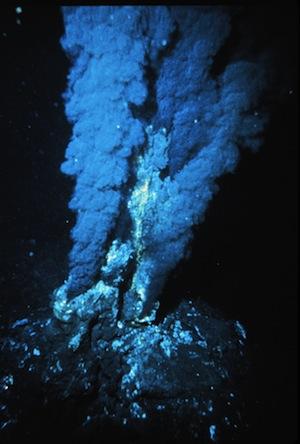 Hydrothermal vents.   Image courtesy of OAR/National Undersea Research Program, NOAA