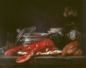 "Anne Vallayer-Coster, ""Still Life with Lobster"" 1781"